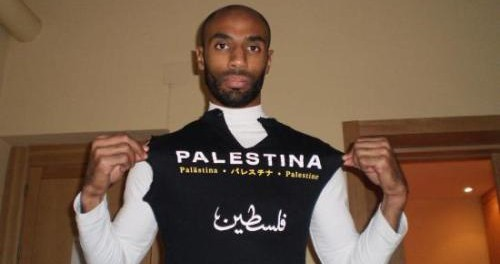 FOOTBALL STARS RALLY IN SUPPORT OF PALESTINE