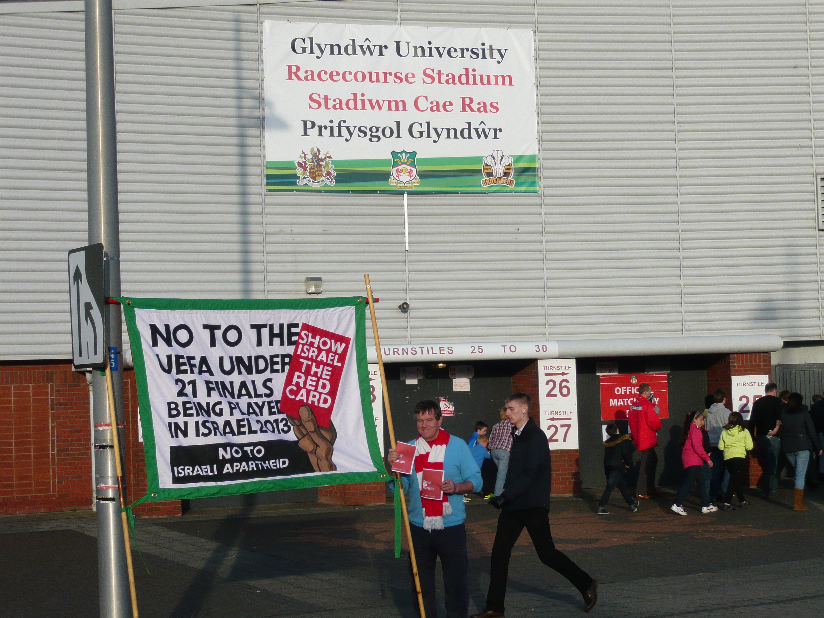 2012 Feb Wrexham ground and banner