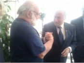 Jeff Halper with Blatter a21 May 2015
