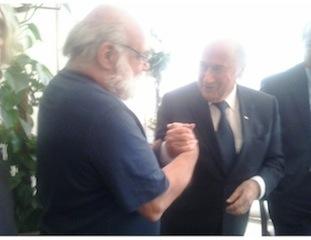 ICAHD activists meet FIFA'S Sepp Blatter