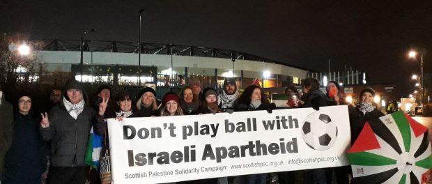 Demonstration at Scotland v Israel