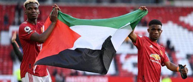Manchester United stars Pogba and Diallo raise Palestinian flag
