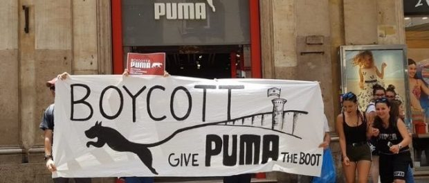No to Sports-Wash: UK Activists Protest against Puma